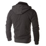 Color Block Zippers Faux Twinset Hoodie deal