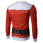 cheap Crew Neck 3D Father Christmas Costume Print T-Shirt