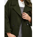 best Plus Size Buttoned Wool Blend Longline Coat