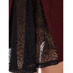 Lace Panel Plus Size Knitted Dress for sale