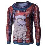 Crew Neck 3D Christmas Sea Lion Cartoon Print T-Shirt