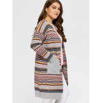Open Front Knit Striped Cardigan deal