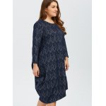 Plus Size Long Sleeves Asymmetrical Baggy Dress deal