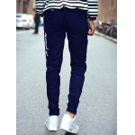 Lace Up Plus Size Beam Feet Embroidered Jogger Pants deal