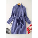 Button Down Wool Coat with Belt for sale
