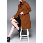 Button Down Wool Coat with Belt deal