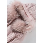 Faux Fur Hooded Long Puffer Coat for sale