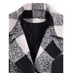 Snap Button Pocket Design Plaid Overcoat deal