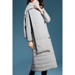 Double Breasted Long Down Coat with Scarf deal