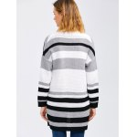 Crochet Pattern Striped Cardigan With Pocket deal