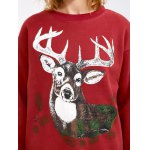 best Drop Shoulder Christmas Reindeer Sweatshirt