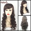 Adiors Long Shaggy Side Bang Wavy Synthetic Party Wig