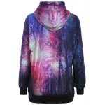 cheap Pullover Aurora Tree Print Patterned Hoodies