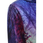Pullover Aurora Tree Print Patterned Hoodies for sale