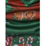 Crew Neck 3D Christmas Tie Costume Faux Twinset Print T-Shirt photo