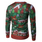 cheap Crew Neck 3D Christmas Tie Costume Faux Twinset Print T-Shirt