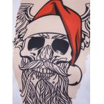 Crew Neck 3D Father Christmas Costume Tattoo Print T-Shirt deal