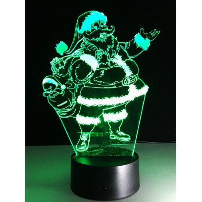 Santa Claus Shape Touch Colorful Night Light