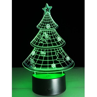 Christmas Tree Shape Touch Colorful Night Light