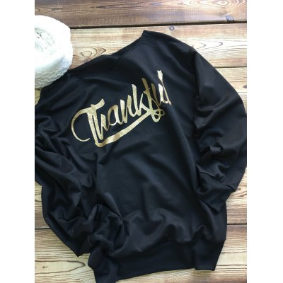 Thankful Arrow Print Sweatshirt