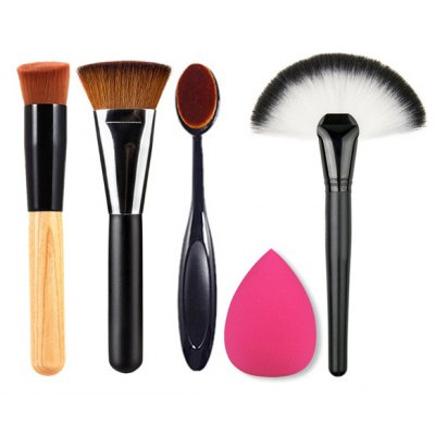 4 Pcs Makeup Brushes and Beauty Blender