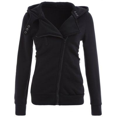 Zip Up Slim Fit Hoodie