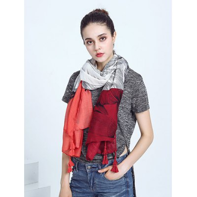 Voile Color Block Tassel Eagle Print ScarfWomens Scarves<br>Voile Color Block Tassel Eagle Print Scarf<br><br>Scraf Type: Scarf<br>Group: Adult<br>Gender: For Women<br>Style: Fashion<br>Season: Fall,Spring,Summer<br>Scarf Length: 180CM<br>Scarf Width: 90CM<br>Weight: 0.120kg<br>Package Contents: 1 x Scarf