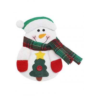 Christmas Snowman Knives Forks Cover Bag Table Decoration
