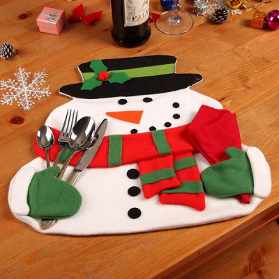Home Decor Christmas Cloth Pad Snowman Double Table MatTable Accessories<br>Home Decor Christmas Cloth Pad Snowman Double Table Mat<br><br>Event &amp; Party Item Type: Party Decoration<br>Occasion: Christmas<br>Size(L*W)(CM): 36*40cm<br>Weight: 0.130kg<br>Package Contents: 1 x Table Mat x Napkin