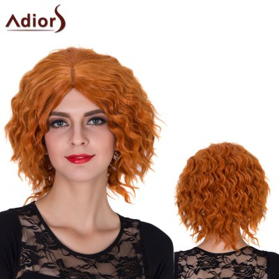 Adiors Short Centre Parting Shaggy Curly Film Character Synthetic Wig