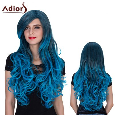 Adiors Long Color Mixed Side Parting Wavy Film Character Synthetic Wig