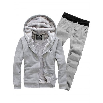 Hooded Long Sleeve Hoodie and Pants Twinset
