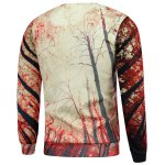 cheap Crew Neck Trees 3D Print Pullover Sweatshrit
