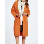 cheap Wool Blend Loose Button Up Coat