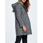 Wool Blend Hooded Checked Coat deal
