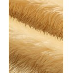 Faux Fur Collar Plush Lining PU Leather Jacket photo