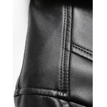Button Front Flocking PU Leather Jacket deal