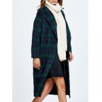 Wool Blend Loose Checked Coat deal