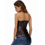 Strapless Jacquard Vintage Corset Top for sale