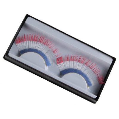Pair of French Flag False Eyelashes