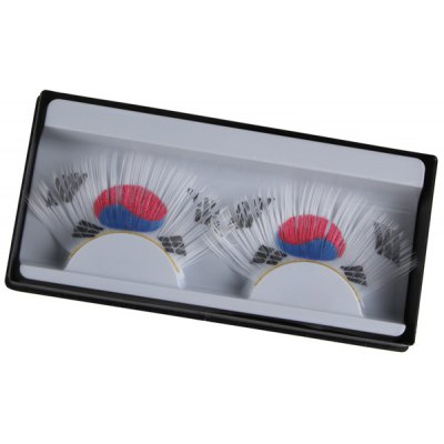 Pair of South Korean Flag False Eyelashes