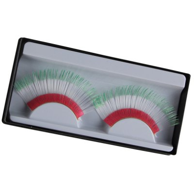 Pair of Italian Flag False Eyelashes