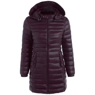 Zip Up Hooded Quilted Coat