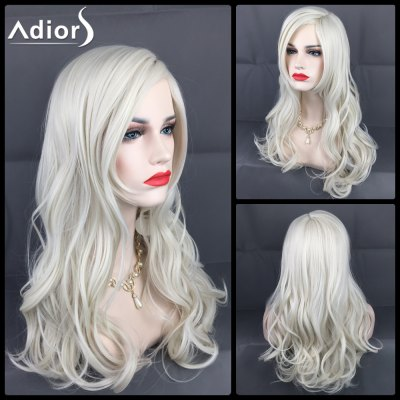 Adiors Long Layered Side Parting Wavy Christmas Party Synthetic Wig