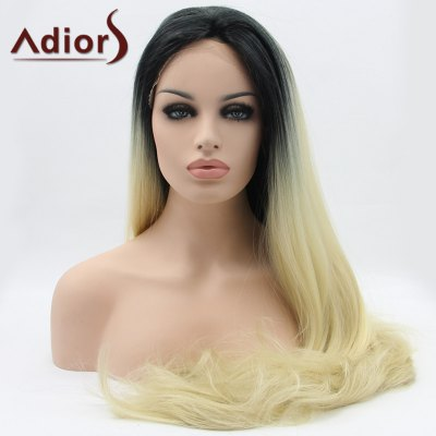 Adiors Hair Long Straight Slightly Curled Lace Front Synthetic Wig