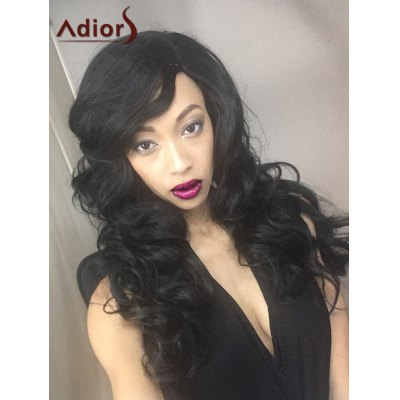 Adiors Fluffy Long Wavy Side Parting Synthetic Wig