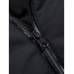 Rib Sleeve Patched Hooded Coat for sale