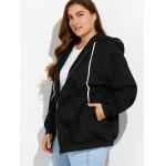 Plus Size Zipper Up Pockets Design Hoodie deal