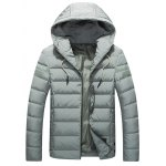 Button Embellish Lightweight Down Jacket