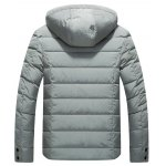 cheap Button Embellish Lightweight Down Jacket